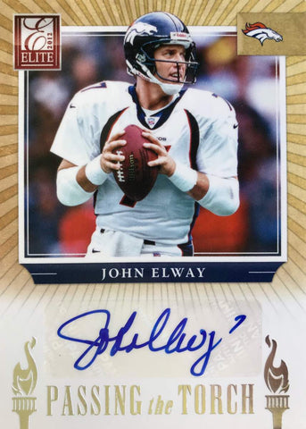 2012 Panini Elite Card No. 20 Passing The Torch Peyton Manning and John Elway #3/20