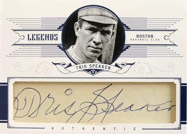 2012 Panini National Treasures Legends #75 Game-Used Material and Autograph Tris Speaker #1/1