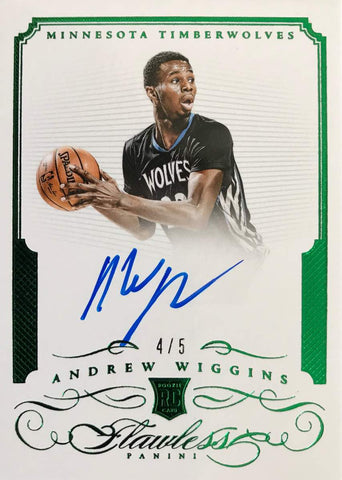 2014-15 Panini Flawless RA-AW Autograph Andrew Wiggins #4/5