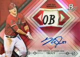 2014 Bowman Platinum Autograph Game-Used Relic Mike Trout #1/25