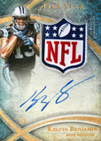 2014 TOPPS Five-Star NFL Shield Card FSNFLSA-KB Autograph Kelvin Benjamin #1/1