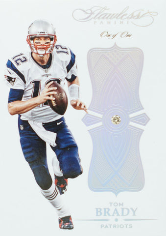 2016 Panini Flawless Football Relic Card No. 46 Diamond  Tom Brady #1/1