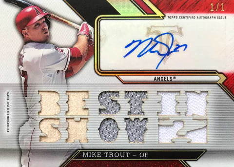 2016 TOPPS Game-Used Materials TTAR-MT1 Autograph Mike Trout #1/1