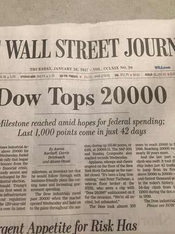 Wall Street Journal Dow Jones Tops 200000