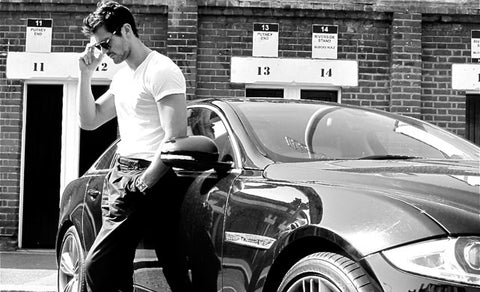 White T-Shirt David Gandy