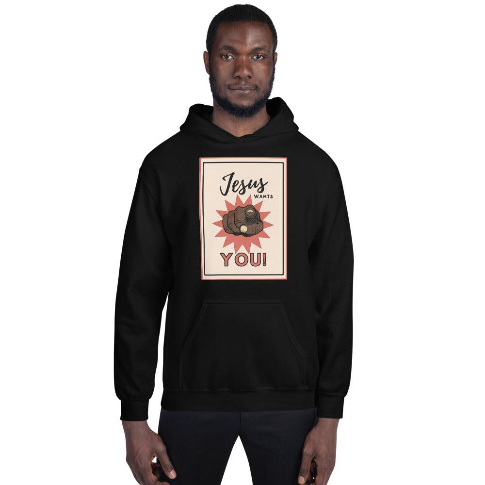 Jesus Wants You!- Men's Hoodie