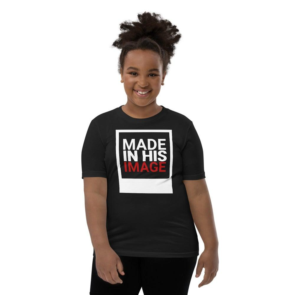 Made in His Image- Girl's Big Kids T-Shirt