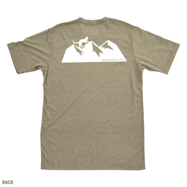 Adventure Cats Badge T-Shirt - Olive