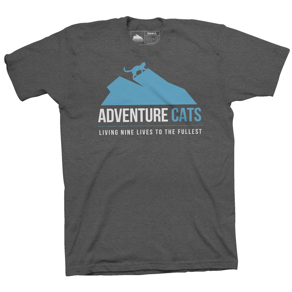 Adventure Cats Logo T-Shirt - Charcoal