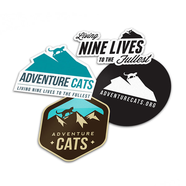 Adventure Cats Stickers