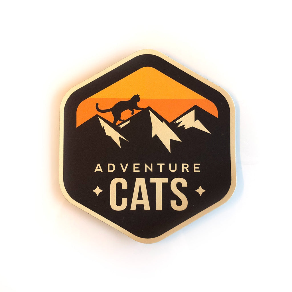 Adventure Cats Badge Magnet