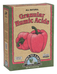 Down To Earth Granular Humic Acids 5lb Box