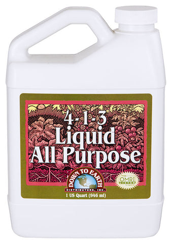 Down To Earth All Purpose Liquid Fertilizer