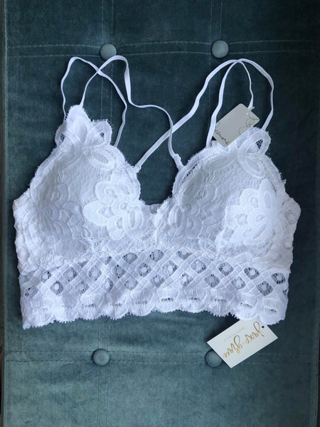 PLUS Crochet Lace Bralette, VARIOUS COLORS