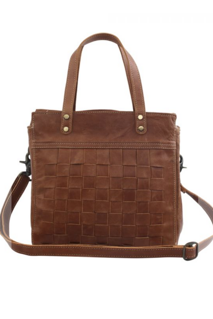 MYRA - Square One Leather and Hairon Bag