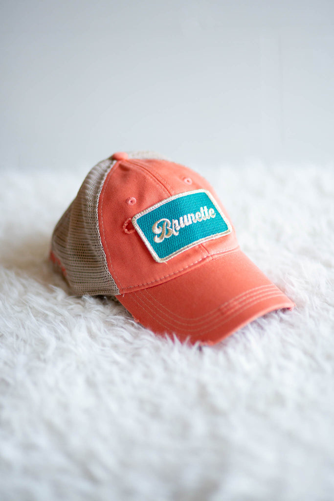 "Coral ""Brunette"" Mesh Back Hat"
