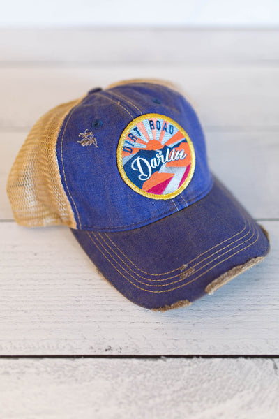 """Dirt Road Darlin'"" Patch Denim Hat"
