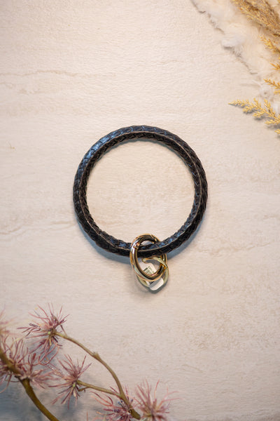 Leather Key Ring Bracelet, VARIOUS COLORS