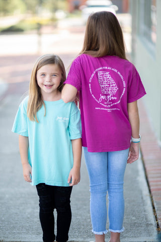JAXE + GRACE - YOUTH Comfort Color Pocket Tees, GA STATE