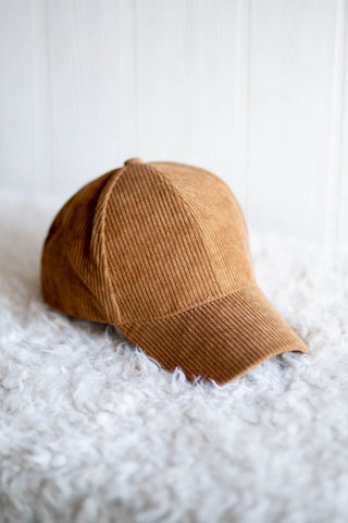 Tan Corduroy Hat