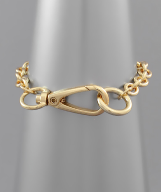 Clasp Chain Bracelet, GOLD OR SILVER