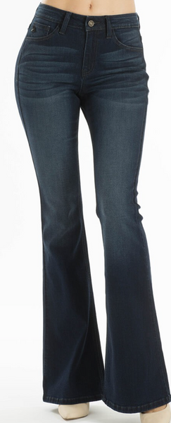 KC Dark Wash Mid Rise Flare Jeans