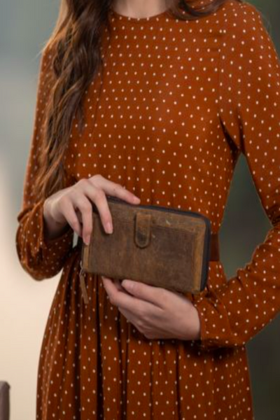 MYRA - It's All Brown Leather Wallet