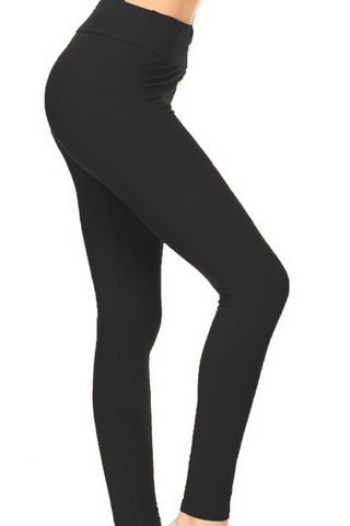 Solid Butter Soft YOGA WAIST Leggings, OS + CURVY