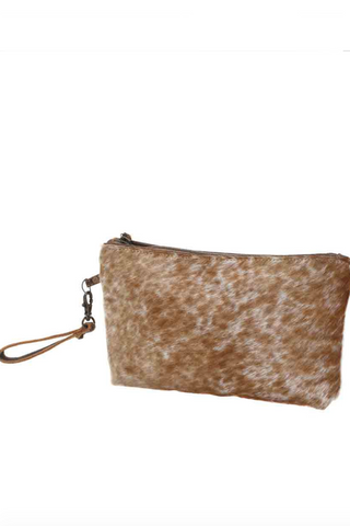 MYRA BAG - Light Brown Shaded Hairon Small Bag