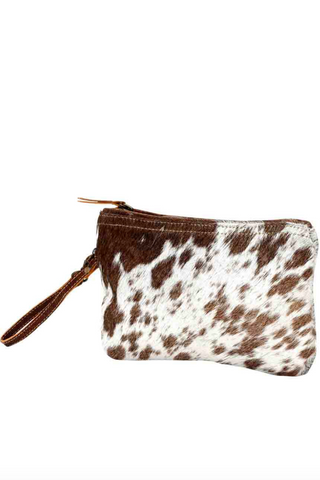MYRA BAG - White + Brown Small Hairon Bag