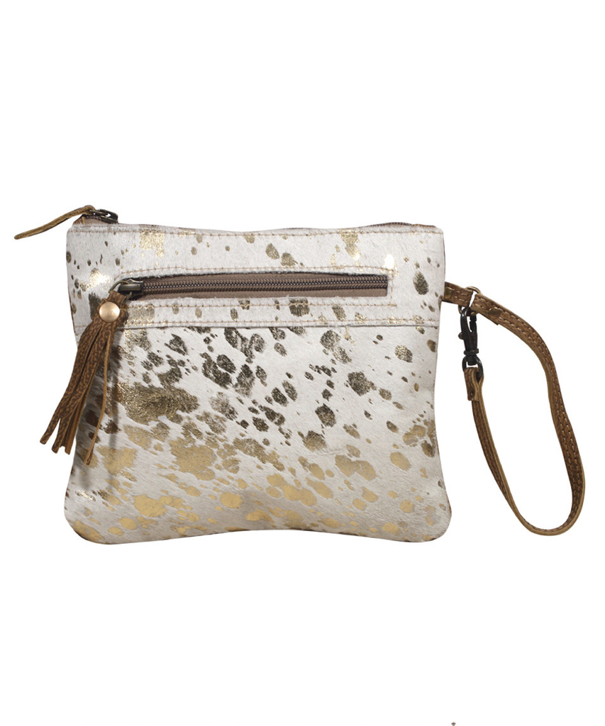 MYRA BAG - Spotted Leather Pouch