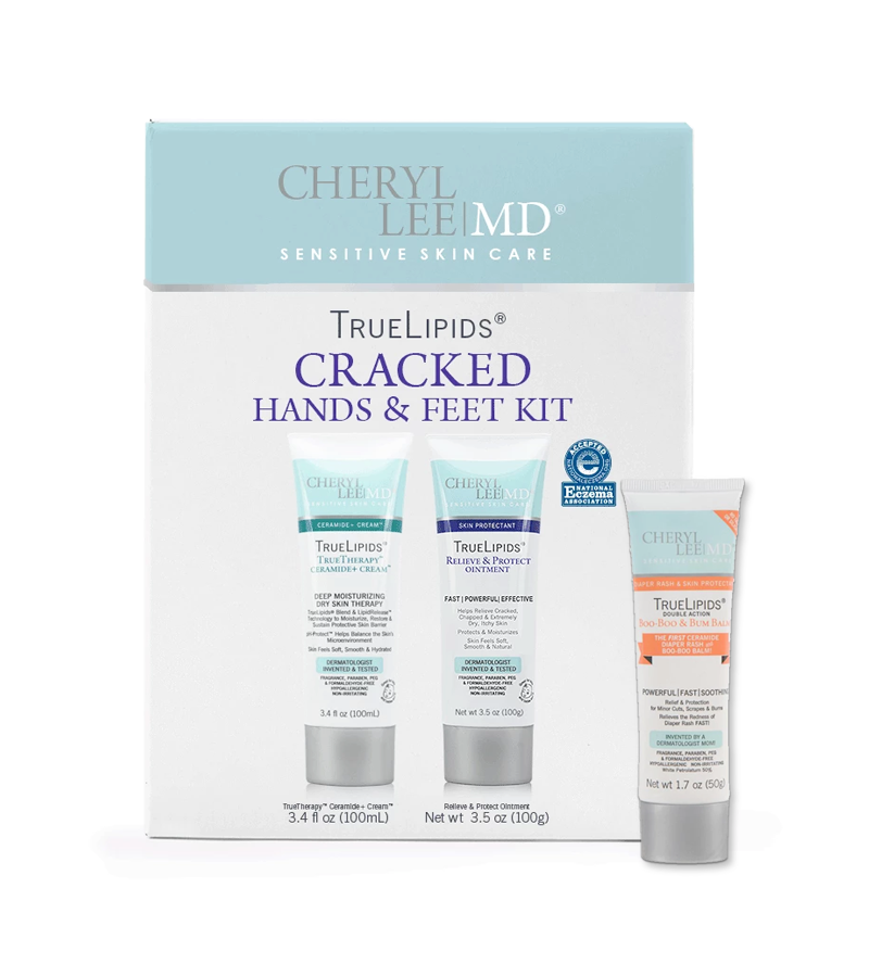 Cracked Hands & Feet Kit Plus Double Action Boo-Boo & Bum Balm