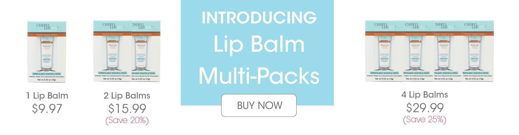 Multi-Pack Lip Balm now available