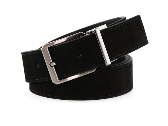 Broad St Belt - Black Suede