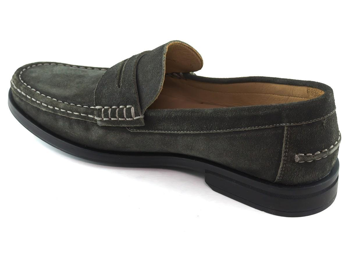 Cortland Street - Graphite Burnished Suede