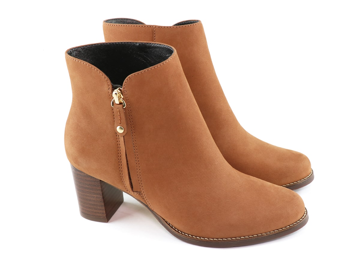 Grand Central Bootie - Cognac Nobuck