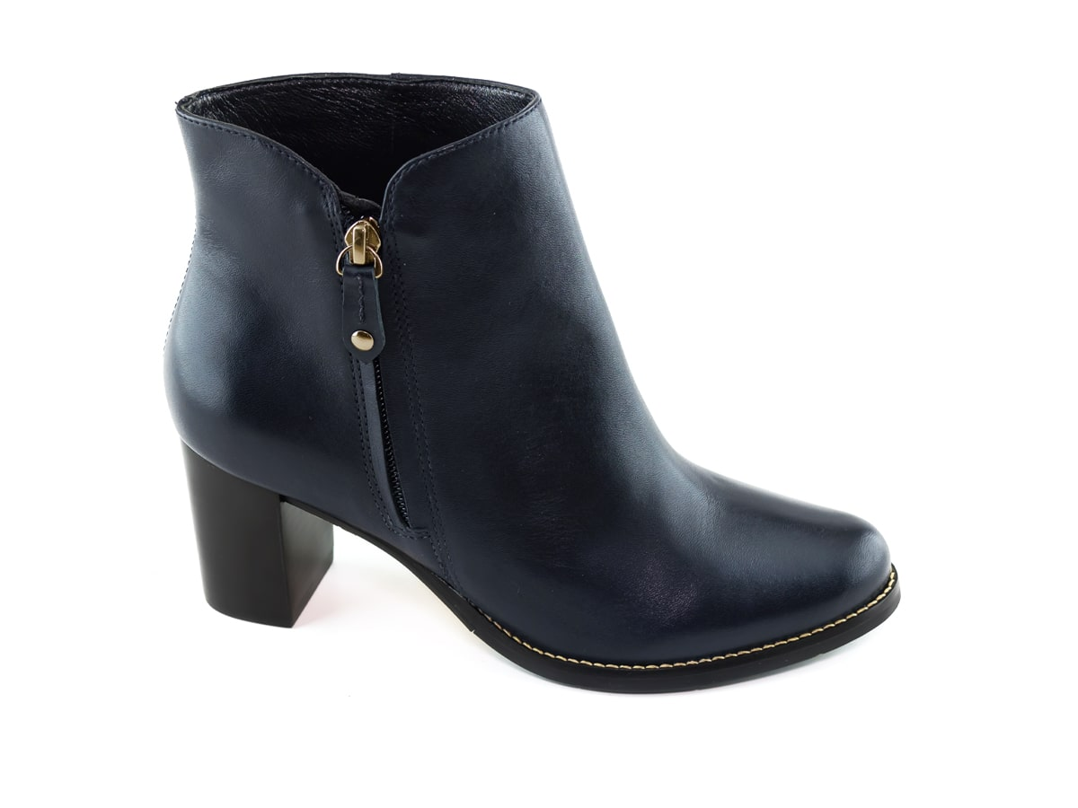 Grand Central Bootie - Navy Napa