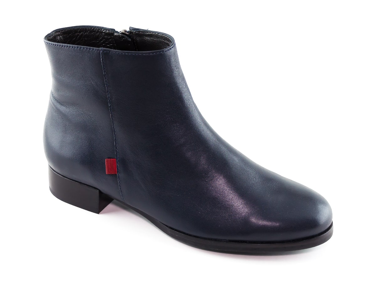 Prince St Bootie - Navy Napa