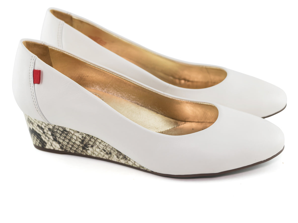 Prospect Wedge - Cream Napa & Viper