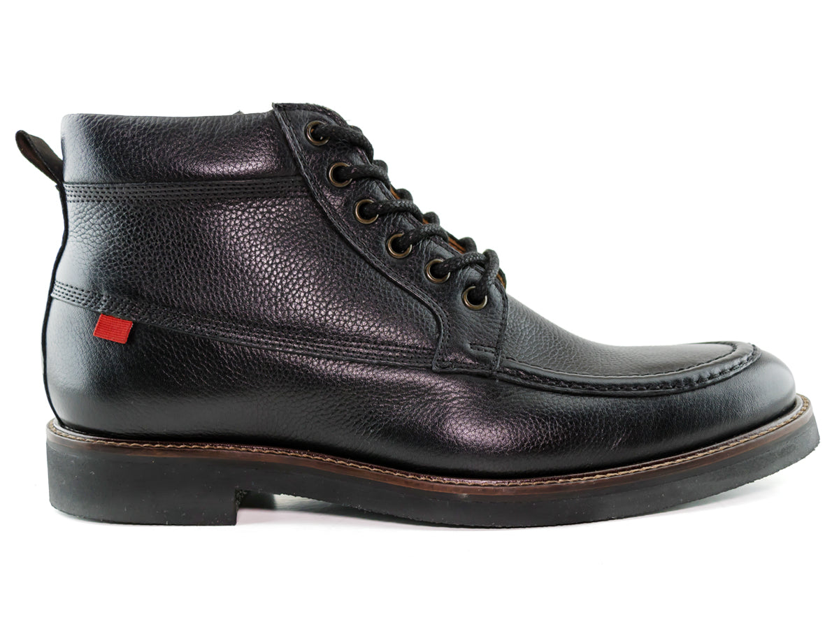 Saxon Ave Boot - Black Grainy