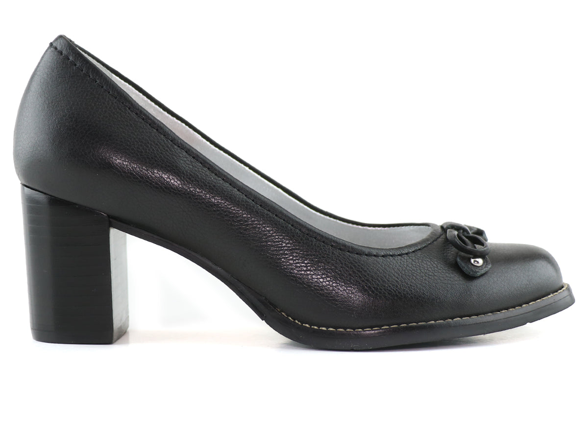 Stacey Ln Pump - Black Napa Soft