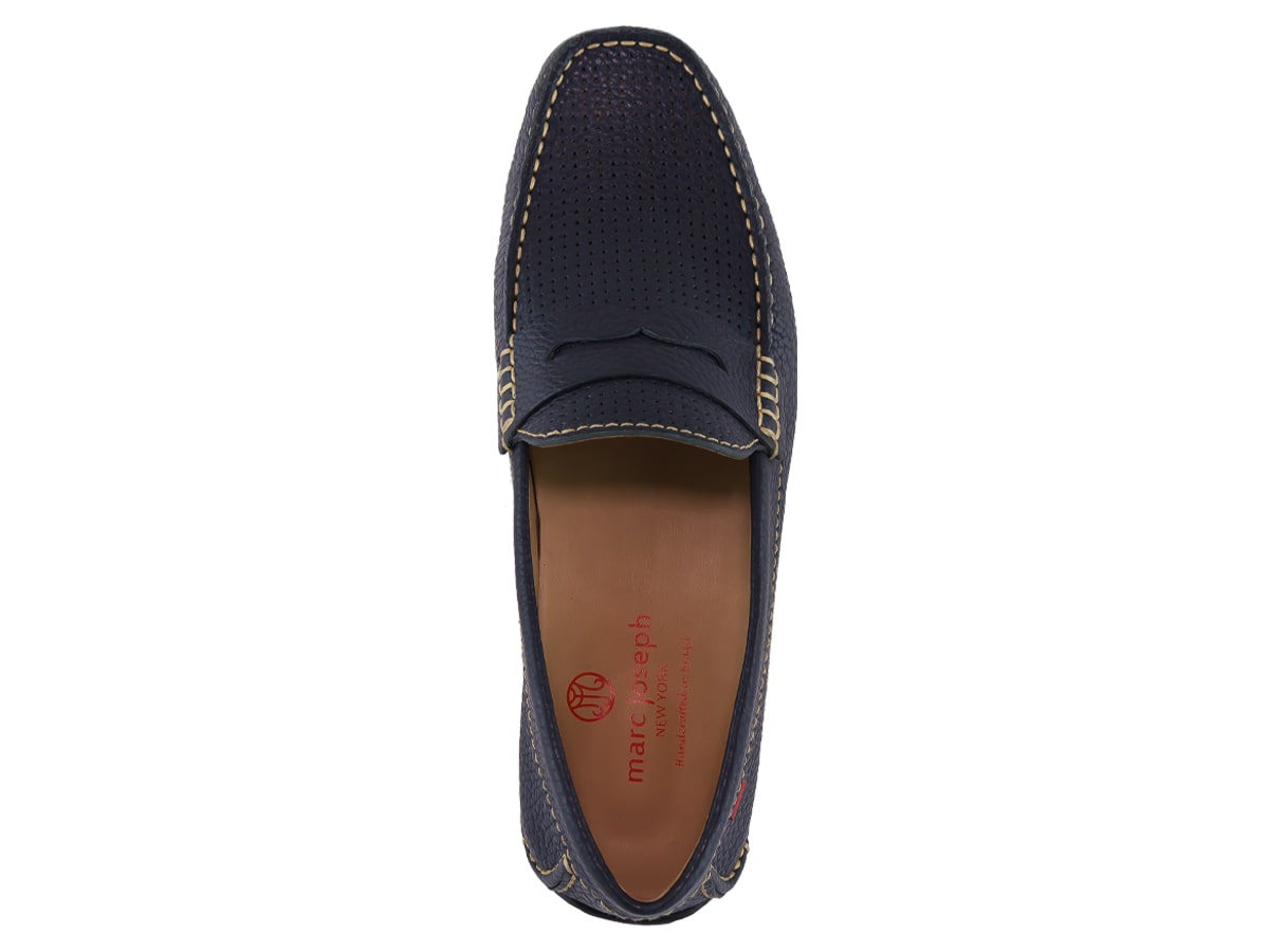 Union St Perforated - Navy Grainy