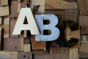 Natural Wooden Letters