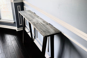 Driftwood Oak Hall Table