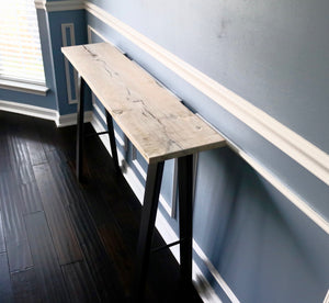 White Wash Oak Hall Table