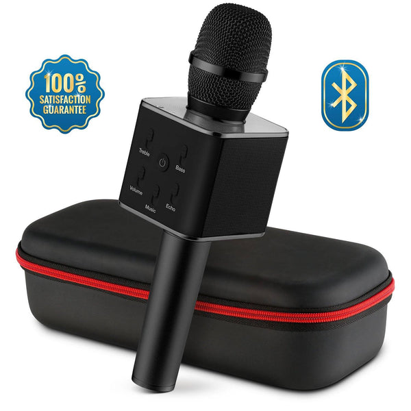 Mike - Bluetooth Karaoke Microphone for iPhone, and Android - Pack of 6:Black:Mila Lifestyle Accessories