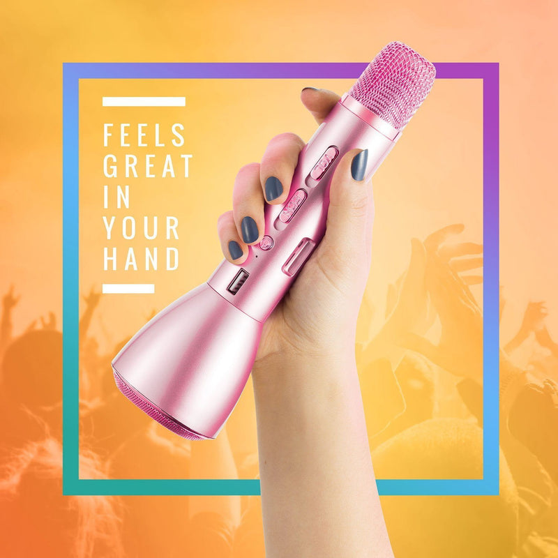 MIKEY - Portable Wireless Karaoke Mic - Pack of 6:Pink:Mila Lifestyle Accessories