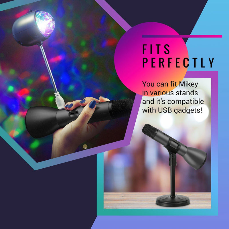 MIKEY - Portable Wireless Karaoke Mic - Pack of 6:Mila Lifestyle Accessories