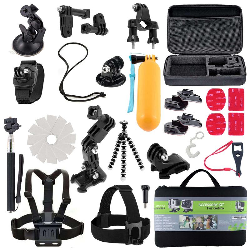 31 Piece Action Camera Kit Sports and Outdoors Mila Lifestyle Accessories