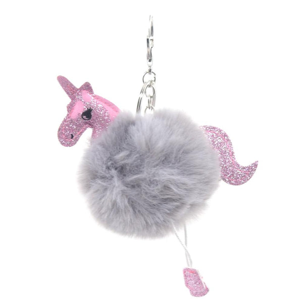 Unicorn Full PomPom Keychain - Pack of 12:Mila Lifestyle Accessories